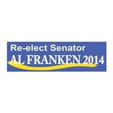 Reelect Senator Al Franken 2014 Wall Decal
