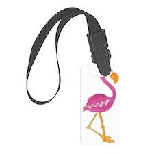 Cute Pink Flamingo Luggage Tag