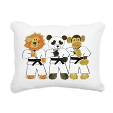 Kung Fu Critters Rectangular Canvas Pillow