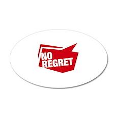 no regret rot Wandtattoo