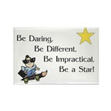 Be Daring ... Be A Star Rectangle Magnet
