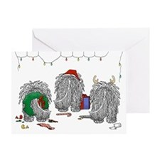 Komondor Christmas Greeting Card