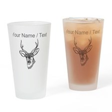 Custom Stag Sketch Drinking Glass