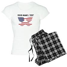 Custom American Flag Mustache Face pajamas