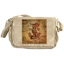 nautical  beach girl Messenger Bag