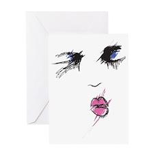 Makeup Smear Greeting Card