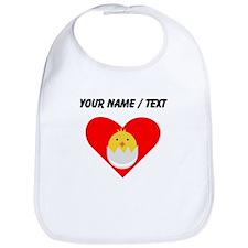Custom Baby Chick Heart Bib