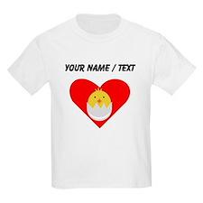 Custom Baby Chick Heart T-Shirt
