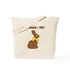 Custom Chocolate Bunny Tote Bag