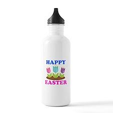 Easter Flowers Happy Easter Sports Water Bottle