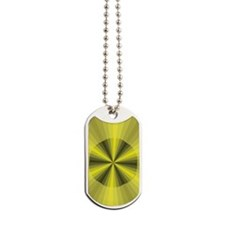 Yellow Illusion Dog Tags