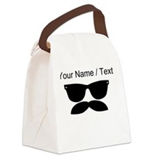 Custom Sunglasses Mustache Canvas Lunch Bag