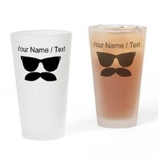Custom Sunglasses Mustache Drinking Glass