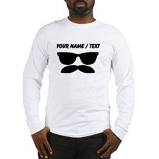 Custom Sunglasses Mustache Long Sleeve T-Shirt