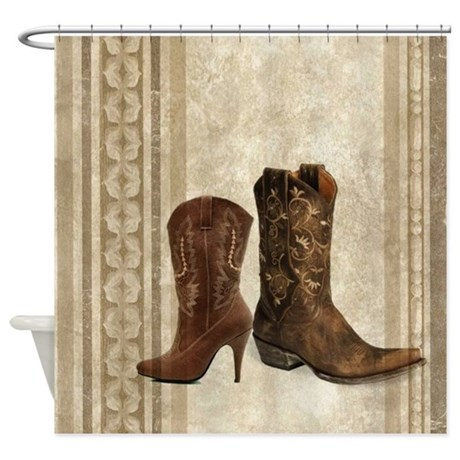 cowboy boots western country Shower Curtain by listing