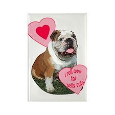 bulldog kisses Rectangle Magnet