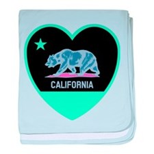 Love California - Bright baby blanket