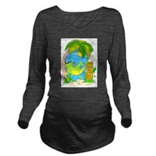 LOUNGIN.png Long Sleeve Maternity T-Shirt