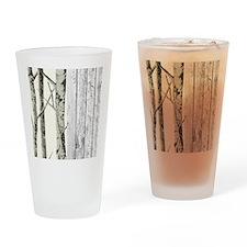 barnwood birch tree western country Drinking Glass