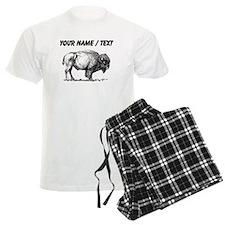 Custom Bison Sketch Pajamas