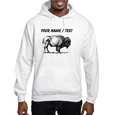 Custom Bison Sketch Hoodie