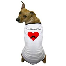 Custom Mustache Heart Dog T-Shirt