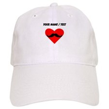 Custom Mustache Heart Baseball Cap