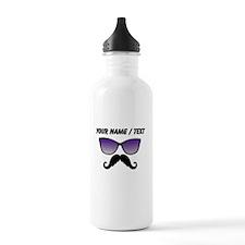 Custom Sunglasses Mustache Sports Water Bottle