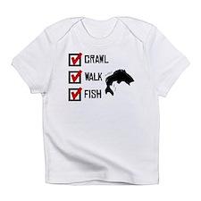 Crawl Walk Fish Infant T-Shirt