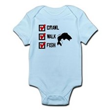 Crawl Walk Fish Body Suit