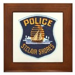 St Clair Shores Police Framed Tile