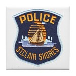 St Clair Shores Police Tile Coaster