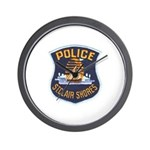 St Clair Shores Police Wall Clock
