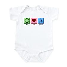 Peace Love Hashtags Infant Bodysuit