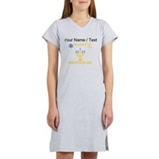 Custom Happy Hanukkah Women's Nightshirt
