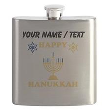 Custom Happy Hanukkah Flask