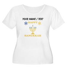 Custom Happy Hanukkah Plus Size T-Shirt