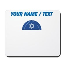 Custom Blue Yarmulke Mousepad