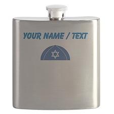Custom Blue Yarmulke Flask