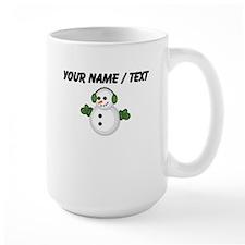 Custom Christmas Snowman Mugs