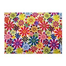 Hippie Flowers 5'x7'Area Rug