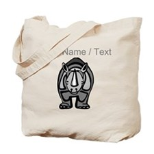 Custom Cartoon Rhinoceros Tote Bag