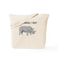Custom Grey Rhino Tote Bag