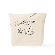 Custom Rhinoceros Drawing Tote Bag