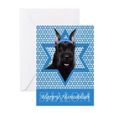 Hanukkah Star of David - Schanuzer Greeting Card