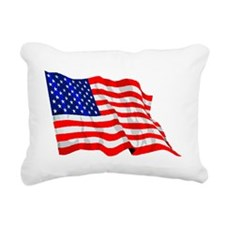 USA flag Rectangular Canvas Pillow