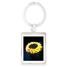 Sunflower cupcake Portrait Keychain