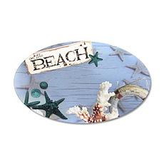 nautical seashells beach fas 20x12 Oval Wall Decal
