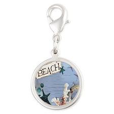 nautical seashells beach fashi Silver Round Charm