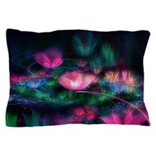 Fairy Flowers Floral Pillow Case